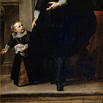 Anthony van Dyck -- Portrait of a man of quality and his son, Part 2 Louvre