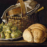 Luis Meléndez -- Still life with figs, Part 2 Louvre