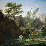 Part 2 Louvre - Claude-Joseph Vernet -- Morning, Bathers