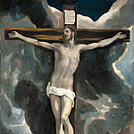 Part 2 Louvre - El Greco -- Crucifixion with Two Donors