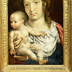 Jan Gossaert -- Carondelet Diptych, right panel: Virgin and Child, Part 2 Louvre