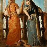 Théodore Chassériau -- Jewish Women on a Balcony, Algeria , Part 2 Louvre
