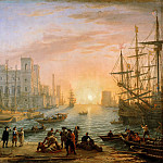 Claude Lorrain -- Seaport at Sunset, Part 2 Louvre