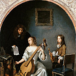 Playing the bass viola, Caspar Netscher