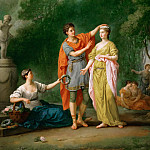 Joseph-Marie Vien -- A lover crowning his beloved, Part 2 Louvre