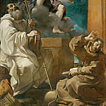 Guercino -- Saint Francis in Ecstasy with Saint Benedict and an Angel Playing the Violin, Part 2 Louvre