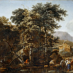 Nicolaes Berchem the Elder -- Landscape with Large Trees, Part 2 Louvre