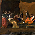 Part 2 Louvre - Nicolas Poussin -- The infant Moses trampling Pharoah's crown