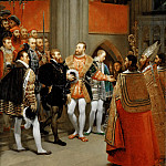 Antoine-Jean Gros -- Emperor Charles V Received by Francis I at the Abbey of Saint Denis , Part 2 Louvre