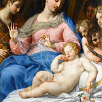 The sleep of the infant Jesus with musician angels, Carlo Maratti