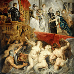 Peter Paul Rubens -- Landing of Marie de Médicis at Marseille, 3 November 1600, Part 2 Louvre