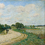 Sisley, Alfred -- La route de Mantes, 1874. Canvas, 38 x 55, 5 cm RF 1961-78, Part 2 Louvre