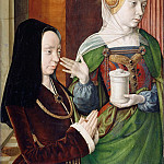 Jean Hey -- Madeleine de Bourgogne Presented by Saint Mary Magdalene, Part 2 Louvre