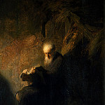 Part 2 Louvre - After Rembrandt van Rijn -- Old hermit (the Prophet Isaiah?)