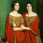 Théodore Chassériau -- The Painter's Two Sisters Adele and Genevieve Chassériau, Part 2 Louvre