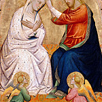 Tommaso del Mazza -- Coronation of the Virgin, Part 2 Louvre