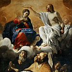 Part 2 Louvre - Giovanni Lanfranco (1582-1647) -- Coronation of the Virgin with Saints Augustine and William of Aquitaine