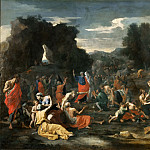 Nicolas Poussin -- Israelites Gathering Manna in the Desert, Part 2 Louvre