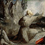 Domenico Beccafumi -- Saint Francis of Assisi Receiving the Stigmata, Part 6 Louvre