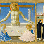 Part 6 Louvre - Fra Angelico -- Coronation of the Virgin; Predella; Christ Rising from the Tomb (Christ in the Tomb)