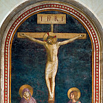 Fra Angelico -- Crucifixion with Saint Domenic, Part 6 Louvre