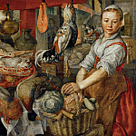 Joachim Beuckelaer -- Kitchen Scene, Part 6 Louvre