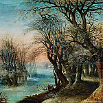 Denys van Alsloot -- Winter Landscape, Part 6 Louvre