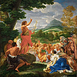 Part 6 Louvre - Giovanni Battista Gaulli (Baciccio, 1639-1709) -- Sermon of Saint John the Baptist
