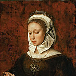 Ambrosius Benson -- Young Woman Reading a Book of Hours, Part 6 Louvre