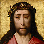 Studio of Dieric Bouts the Elder -- Head of Christ Crowned with Thorns , Part 6 Louvre