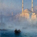 Ivan Ayvazovsky -- View of the Port of Constantinople, Part 6 Louvre
