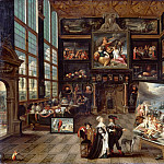 Cornelis de Baellieur -- Interior of a Collector's Cabinet , Part 6 Louvre