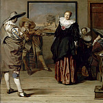 Pieter Jacobs Codde -- The Dance Lesson, Part 6 Louvre