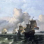 Ludolf Backhuysen I -- Ships of the Dutch East India Company , Part 6 Louvre