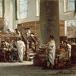 Part 6 Louvre - Edouard Brandon -- Sermon du Jeûne d'Ab (Sermon held by the Talmudist David de Jahacob Lopez Cardozo in the Portuguese Synagogue, Amsterdam)