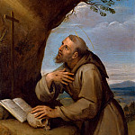 Francesco Albani -- Saint Francis of Assisi Praying before a Crucifix, Part 6 Louvre