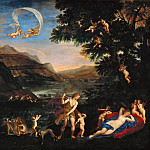 Venus and Adonis Led by Cupids, Francesco Albani