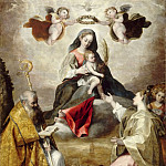 Studio of Federico Barocci -- Virgin and Child in Glory with Saint Anthony Abbott and Saint Lucy, Part 6 Louvre