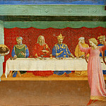 Fra Angelico -- Beheading of Saint John the Baptist and the Feast of Herod, with Salome Dancing, Part 6 Louvre