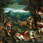 Part 6 Louvre - Jacopo Bassano il Vecchio (c.1510-1592) -- Autumn (Grape Harvest)