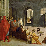 Domenico Beccafumi -- Sermon of Saint Bernard of Siena, Part 6 Louvre