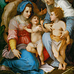 Andrea del Sarto -- Virgin and Child with Saints Elizabeth and John the Baptist and Angels, Part 6 Louvre