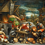 Part 6 Louvre - Francesco Bassano II (1549-1592) -- Forge of Vulcan