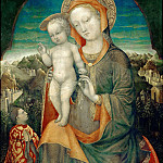 Part 6 Louvre - Jacopo Bellini (c. 1400-1470 or 1471) -- Virgin and Child Adored by Leonello d'Este