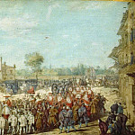 Procession of Pope Urban VIII to Basilica di S. Giovanni in Laterano to take possession of the Holy See (Urbain VIII allant à Saint-Jean-de-Latran prendre possession du Saint-Siège), Johann Wilhelm Bauer