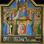 Fra Angelico -- Coronation of the Virgin, Part 6 Louvre
