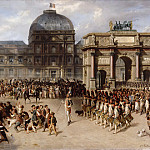 Hippolyte Bellangé and Adrien Dauzats -- A Day of Review under the Empire in 1810 , Part 6 Louvre