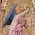 Workshop of Fra Angelico -- Angel in Adoration, Part 6 Louvre