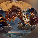 Francesco Albani -- The Eternal Father and the Angel Gabriel , Part 6 Louvre
