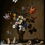 Balthasar van der Ast -- Bouquet of Flowers and Shells , Part 6 Louvre